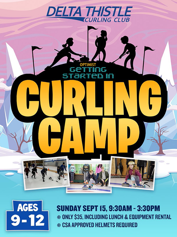Square Banner Curling Camp